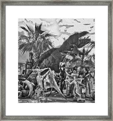 Metal Dinosaurs - 07 Framed Print by Gregory Dyer