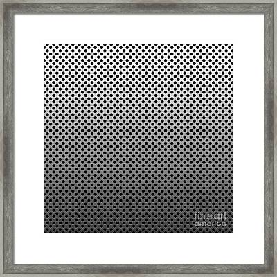 Metal Dotted Silver Framed Print