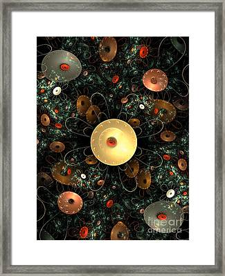 Metal Flower Framed Print by Klara Acel