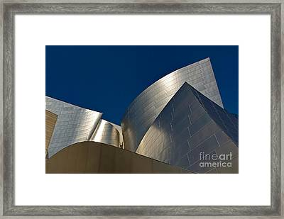 Metal Fold - Walt Disney Concert Hall Abstract In Downtown Los Angeles Framed Print by Jamie Pham
