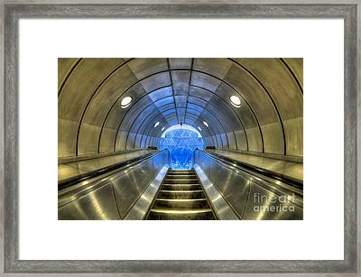 Metal Fusion Framed Print by Evelina Kremsdorf