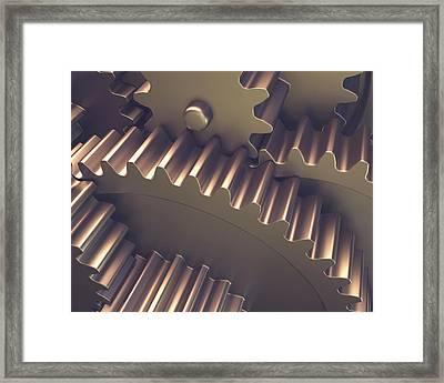 Metal Gears Framed Print by Ktsdesign