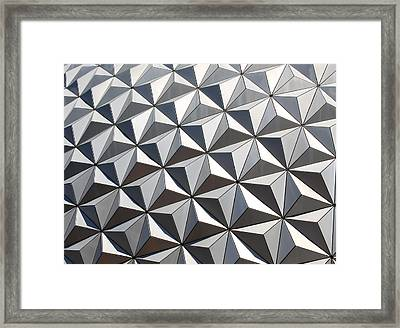 Framed Print featuring the photograph Metal Geode by Chris Thomas