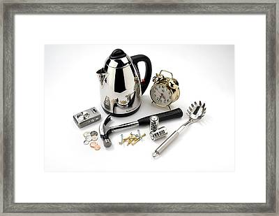 Metal Household Objects Framed Print by Trevor Clifford Photography