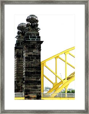 Metal Mortar Cement Framed Print by Mary Beth Landis