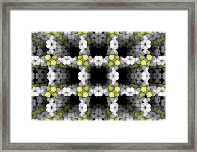 Metal-organic Framework Structure Framed Print by Beautifulchemistry.net