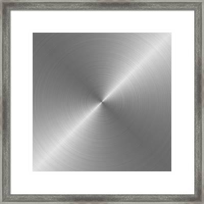 Metal Rough Circular Brushed Steel Aluminum Texture 1 Framed Print by REDlightIMAGE