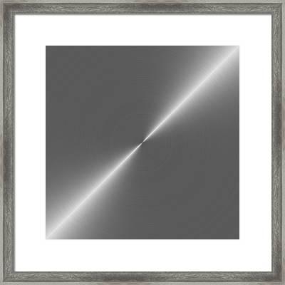 Metal Rough Circular Brushed Steel Aluminum Texture 2 Framed Print by REDlightIMAGE