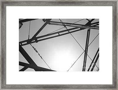 Metal Sky Framed Print by Barbara Bardzik