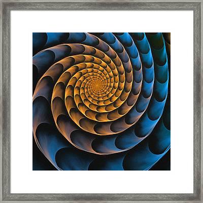 Metal Spiral Framed Print by Anastasiya Malakhova