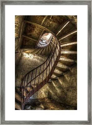 Metal Stairs Framed Print