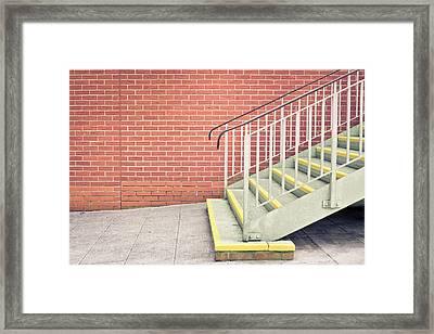 Metal Stairs Framed Print