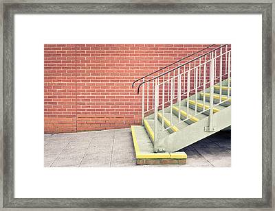 Metal Stairs Framed Print by Tom Gowanlock