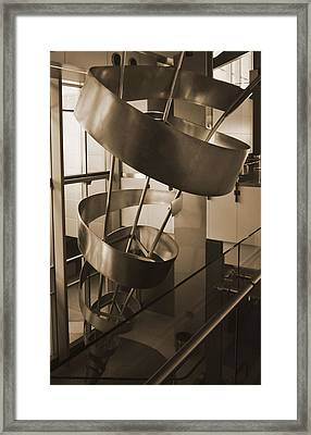 Framed Print featuring the sculpture Metal Structure by Debra Crank