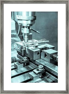 Metal Tooling Shop Floor Framed Print by Photostock-israel