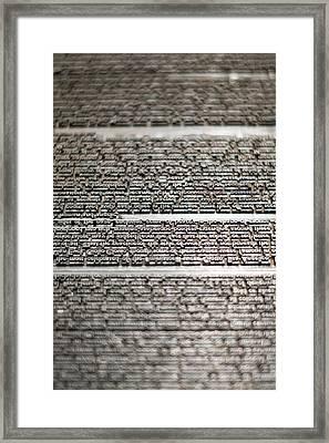 Metal Type Framed Print
