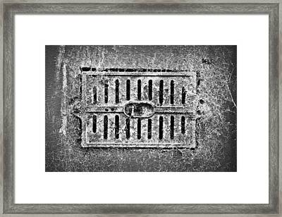 Metal Vent Framed Print by Tom Gowanlock