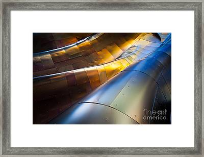 Metal Waves Framed Print by Inge Johnsson