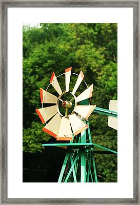 Metal Windmill Framed Print by Christopher Hoffman