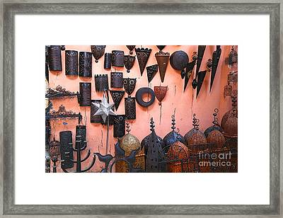 Metal Work Marrakesh Framed Print by Sophie Vigneault