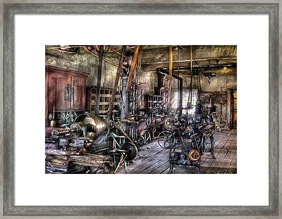 Metal Worker - Belts And Pullies Framed Print by Mike Savad
