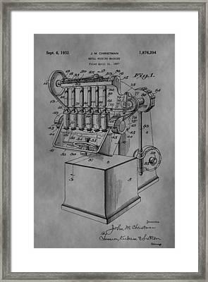 Metal Working Machine Framed Print by Dan Sproul