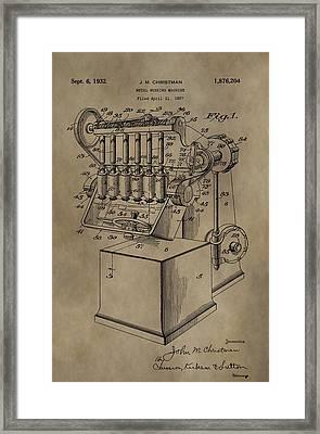 Metal Working Machine Patent Framed Print