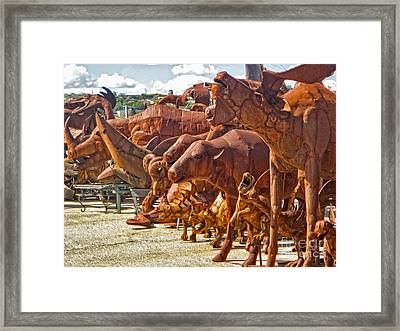 Metal Zoo Framed Print by Gregory Dyer