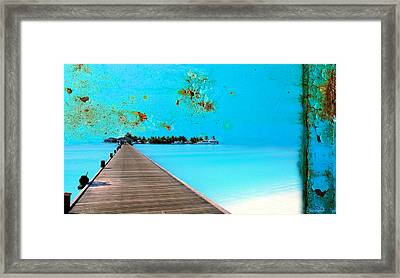Metalbeach Framed Print