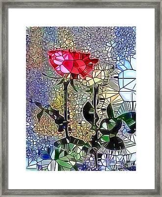 Metalic Rose Framed Print