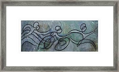 Metallic Blue Triathlon Sequence Framed Print by Alejandro Maldonado