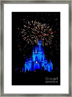 Metallic Castle Framed Print by Ryan Crane