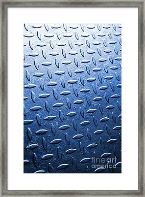 Metallic Floor Framed Print by Carlos Caetano