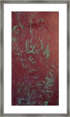 Metallic Geisha  Framed Print