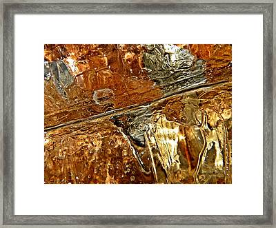 Metallic Ice Framed Print by Chris Berry