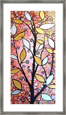 Metallic Leaves Framed Print