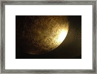 Metallic Moon Framed Print by Kathy Schumann