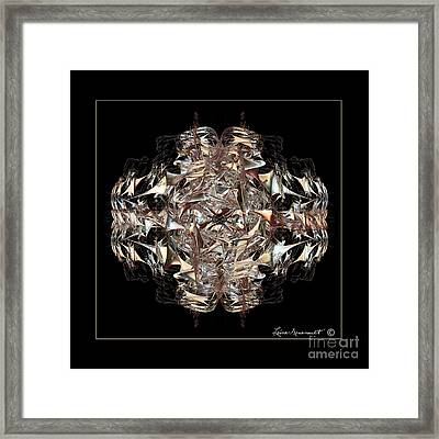 Metallic On Black Framed Print by Leona Arsenault
