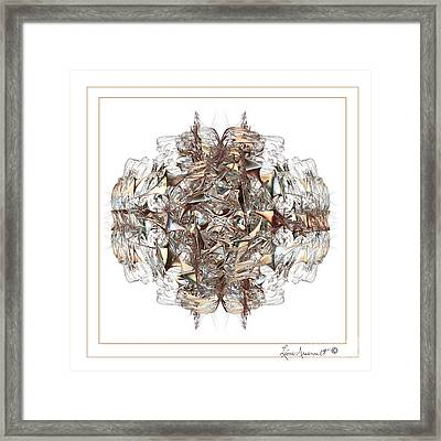 Metallic On White Framed Print by Leona Arsenault