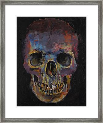 Skull Framed Print by Michael Creese