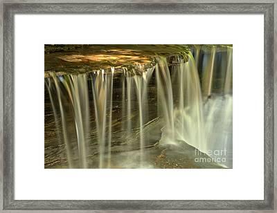Metallic Streams At Stony Brook Framed Print by Adam Jewell