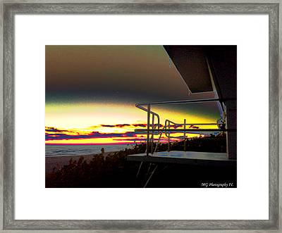 Metallic Sunrise Framed Print