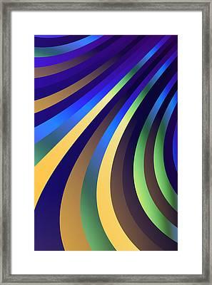 Metallic Swirls 1 Framed Print