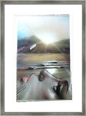 Ocean - ' Metallic Visions ' Framed Print by Christian Chapman Art