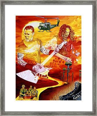 Metallica-one Framed Print by Joshua Morton