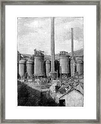 Metallurgical Blast Furnaces Framed Print