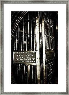 Metals Bank And Trust Company Framed Print by Image Takers Photography LLC - Laura Morgan