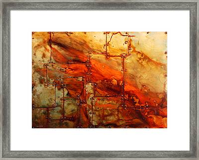Metalwood Framed Print
