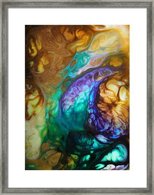 Metamorphic Sapphire Framed Print