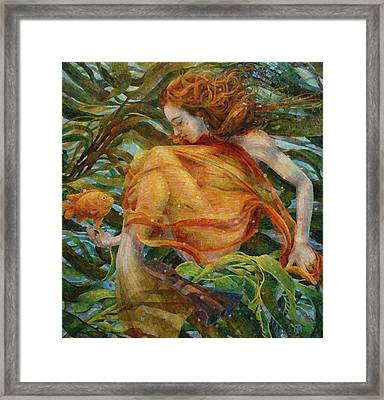 Framed Print featuring the painting Metamorphosis by Mia Tavonatti